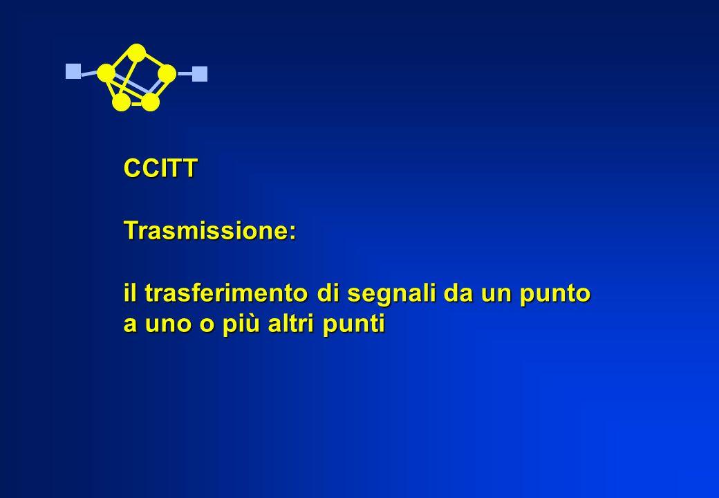 CCITTTrasmissione: il trasferimento di segnali da un punto a uno o più altri punti