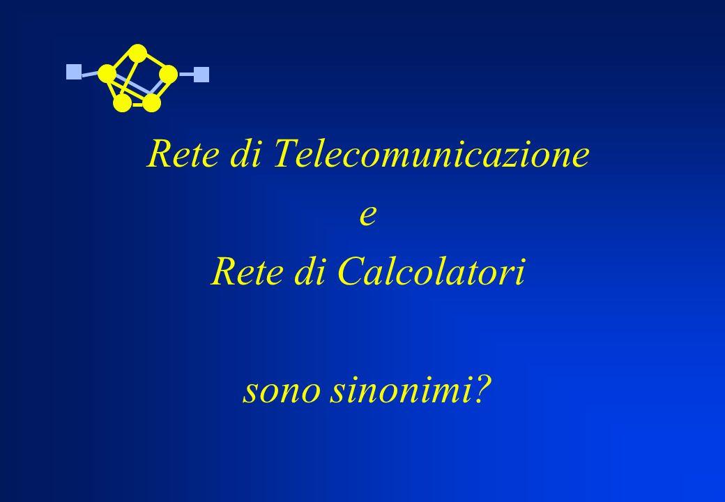 Rete di Telecomunicazione e Rete di Calcolatori sono sinonimi?
