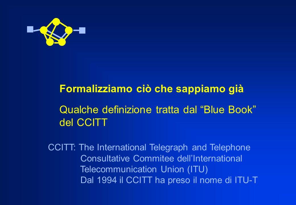 CCITT Servizio di telecomunicazione: Ciò che viene offerto da un gestore pubblico o privato ai propri clienti al fine di soddisfare una specifica esigenza di telecomunicazione.