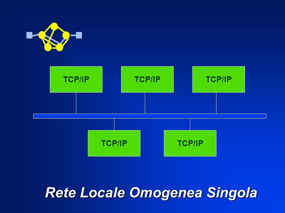 Rete Locale Omogenea Singola Rete Locale Omogenea Singola TCP/IP