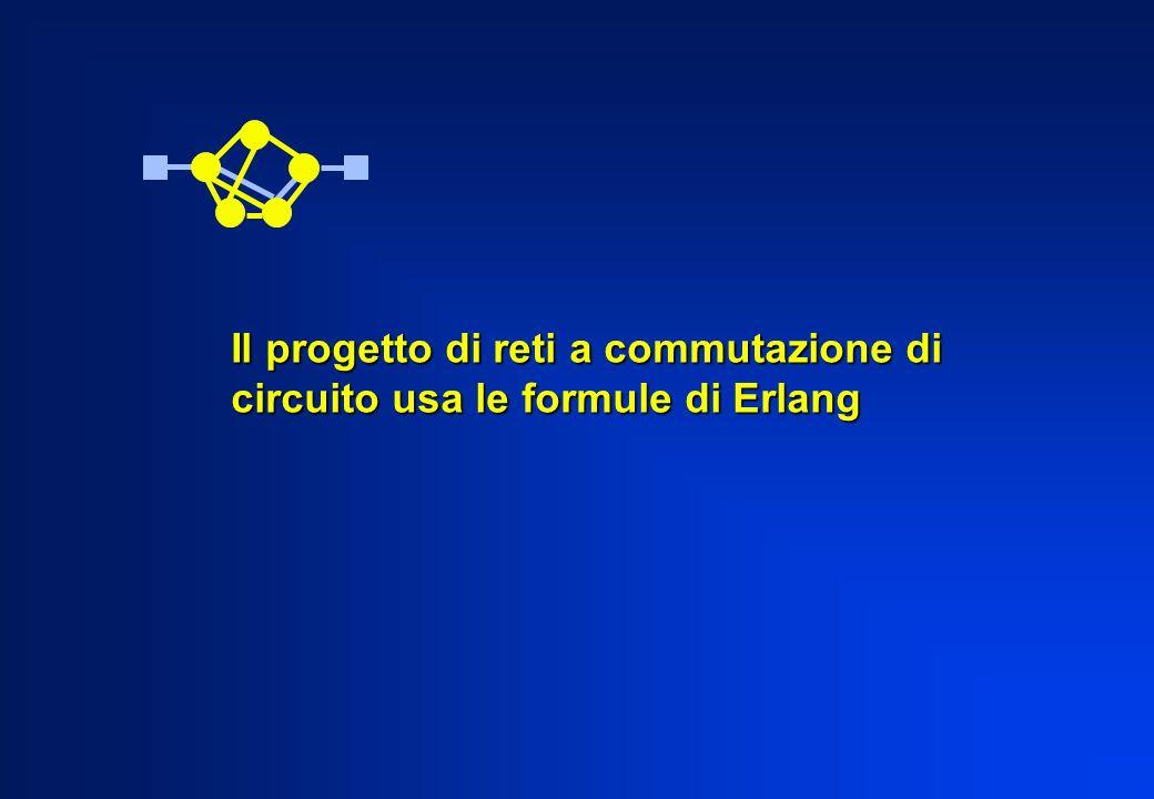 Il progetto di reti a commutazione di circuito usa le formule di Erlang