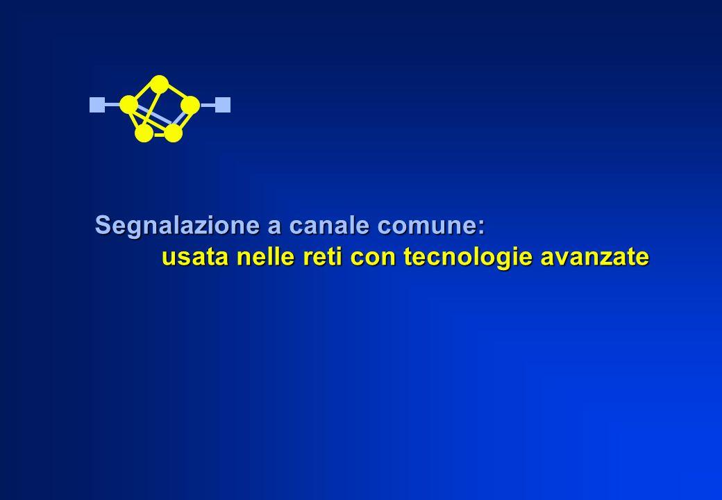 Segnalazione a canale comune: usata nelle reti con tecnologie avanzate