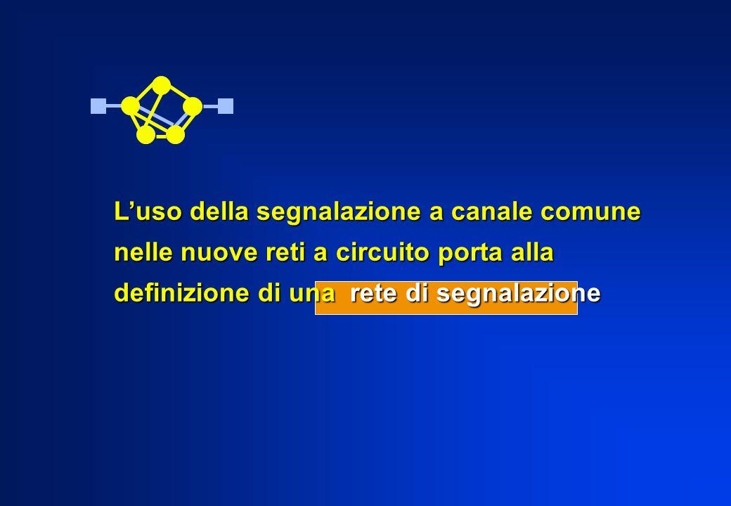 Luso della segnalazione a canale comune nelle nuove reti a circuito porta alla definizione di una rete di segnalazione