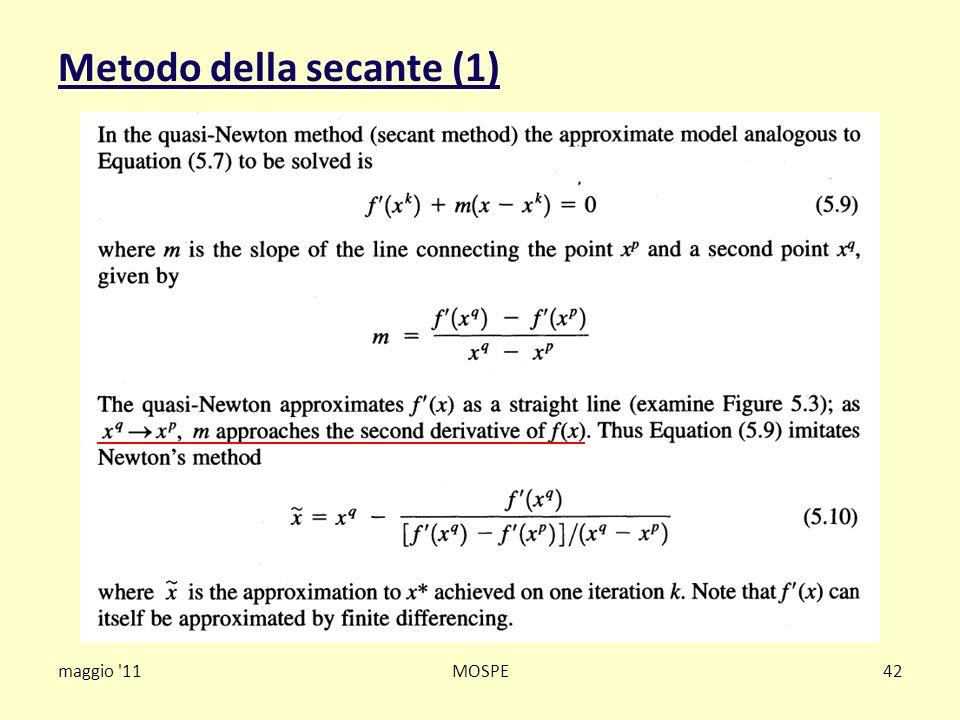 Metodo della secante (1) maggio '11MOSPE42