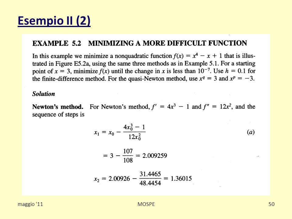Esempio II (2) maggio '11MOSPE50