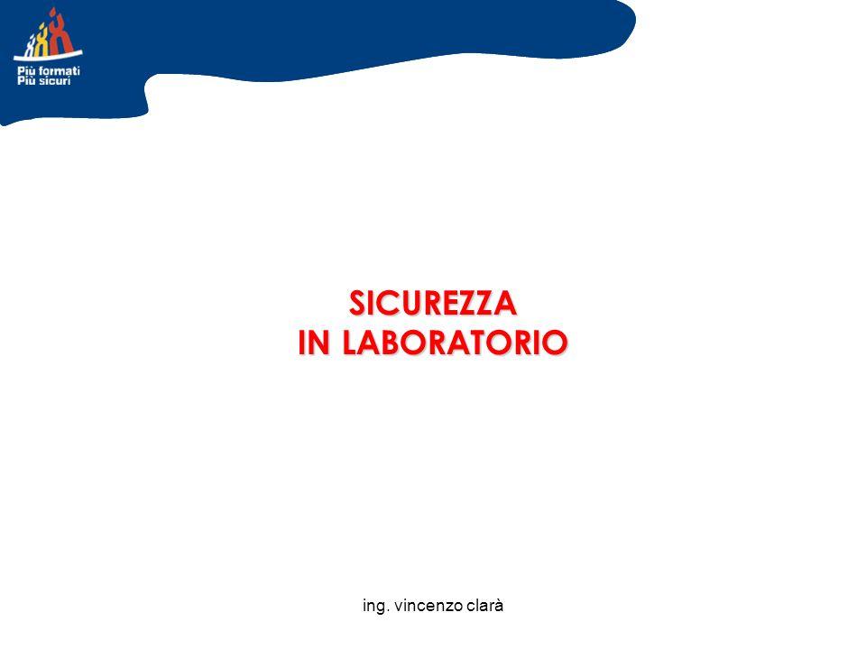 ing. vincenzo clarà SICUREZZA IN LABORATORIO