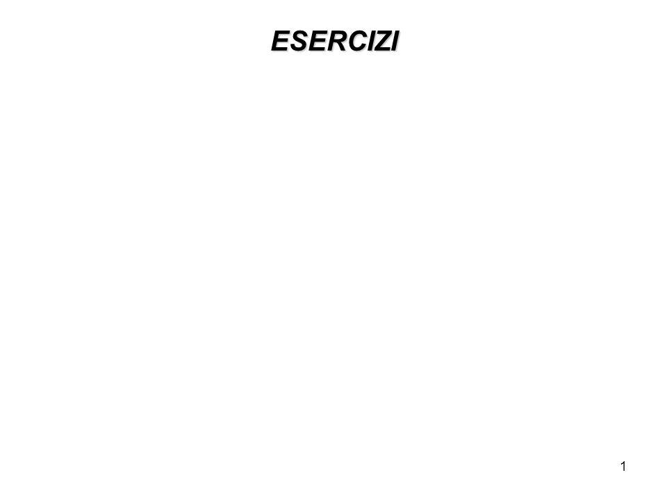 1 ESERCIZI