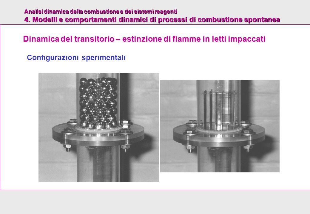 Analisi dinamica della combustione e dei sistemi reagenti 4. Modelli e comportamenti dinamici di processi di combustione spontanea Configurazioni sper