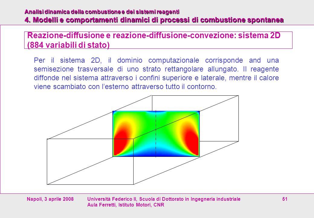 Analisi dinamica della combustione e dei sistemi reagenti 4. Modelli e comportamenti dinamici di processi di combustione spontanea Napoli, 3 aprile 20