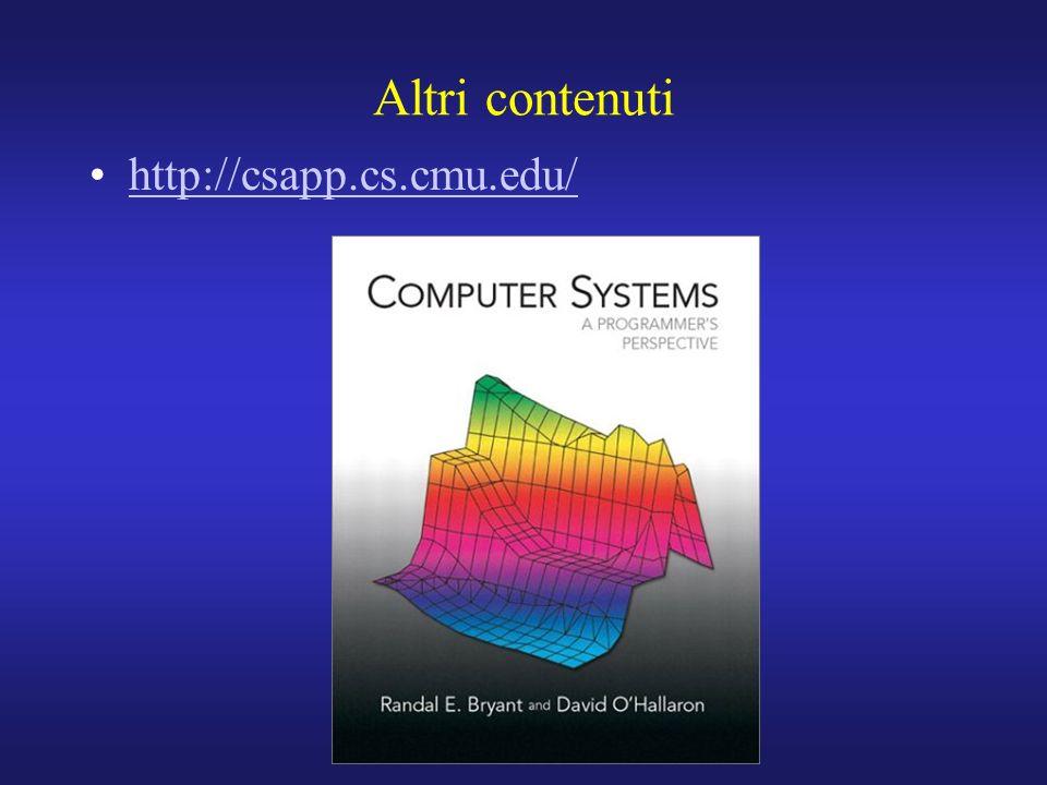 Altri contenuti http://csapp.cs.cmu.edu/