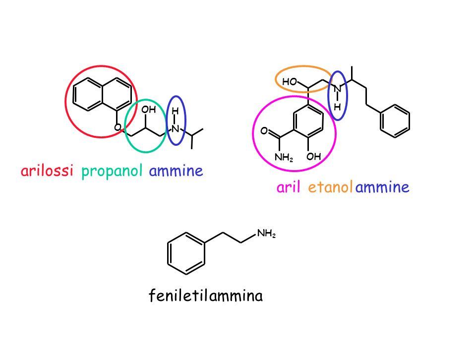 OH O H N NH 2 O N HO H arilossipropanolammine ariletanol ammine feniletil ammina NH 2