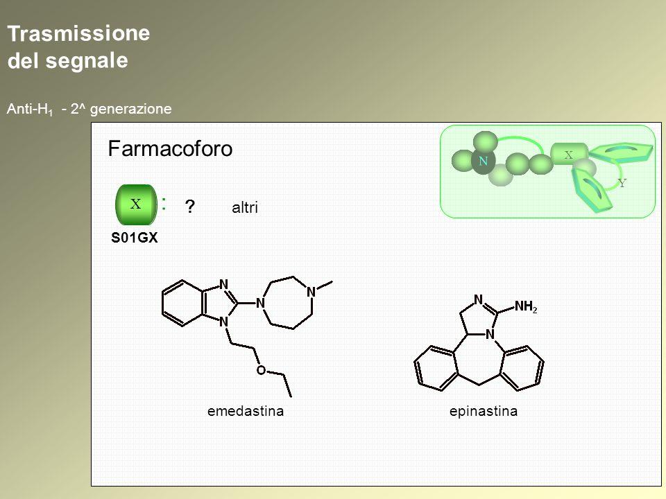 Trasmissione del segnale Anti-H 1 - 2^ generazione N X Y Farmacoforo X : S01GX ? altri emedastinaepinastina
