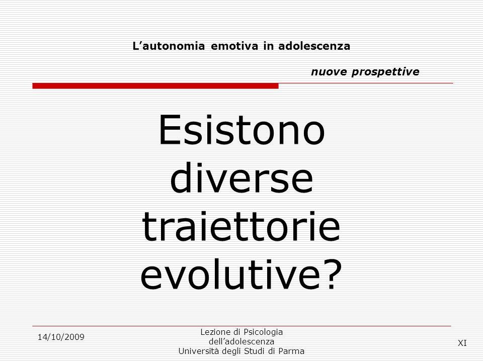 Lautonomia emotiva in adolescenza nuove prospettive 14/10/2009 Lezione di Psicologia delladolescenza Università degli Studi di Parma Esistono diverse