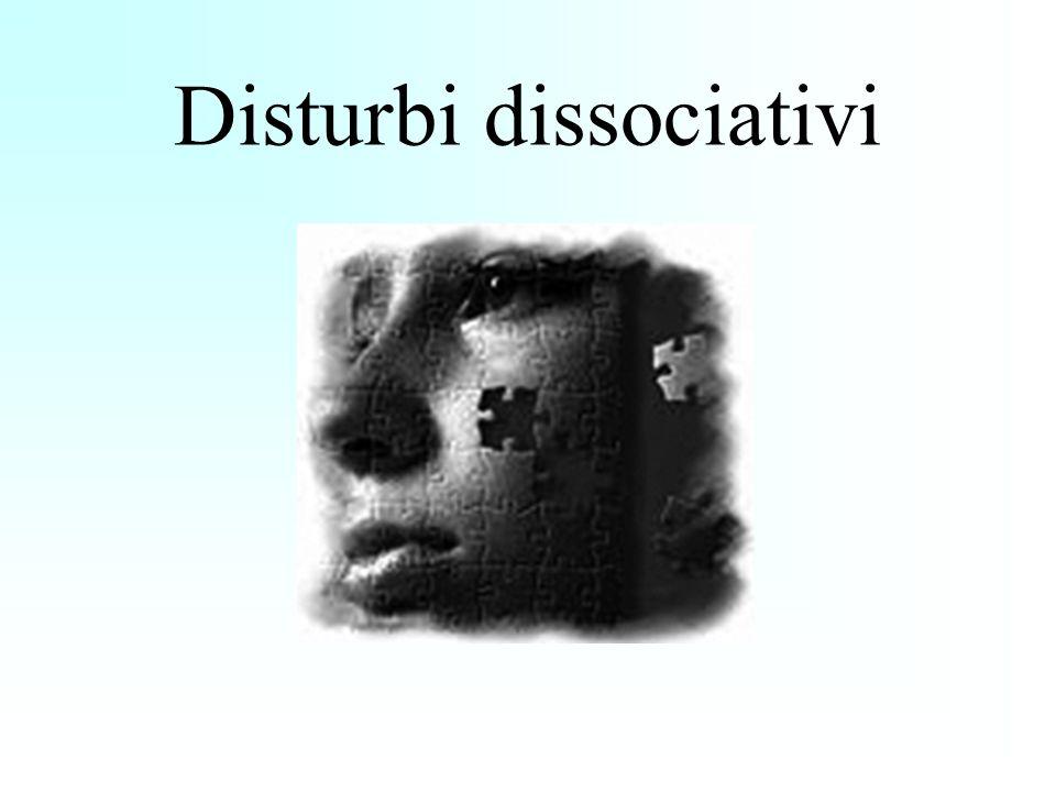 Classificazione DSM-IV-TR Caratteristica fondamentale:sconnessione delle funzioni, in genere integrate, della coscienza, della memoria, dell identità o della percezione.