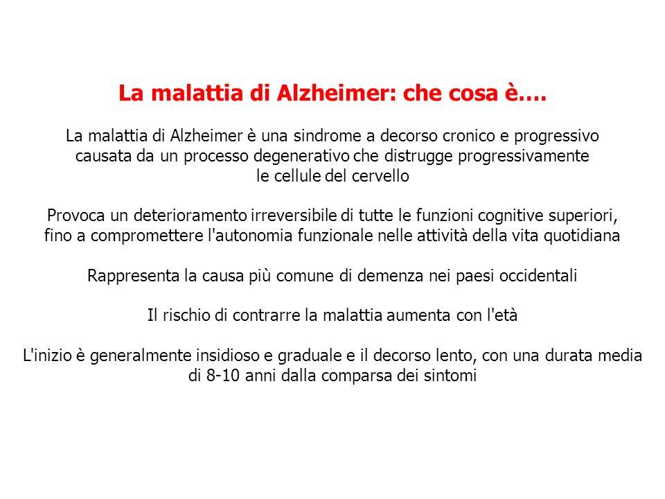 905,713 AD pari al 1,5% della popolazione italiana Eurodem 2008 80.000 AD I nuovi malati ogni anno