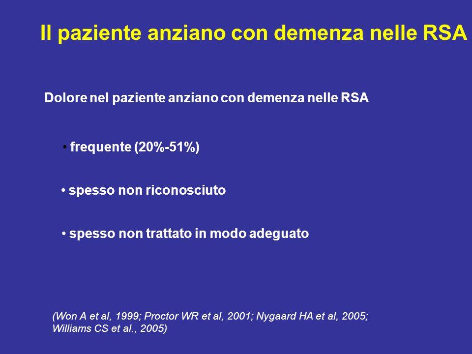 Criteri di definizione della gravità della demenza Criteri di gravità globale (GDS, CDR) Criteri di gravità specifici in relazione al livello di compr