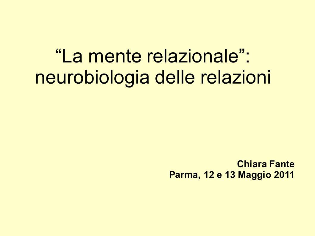 La mente relazionale: neurobiologia delle relazioni Chiara Fante Parma, 12 e 13 Maggio 2011