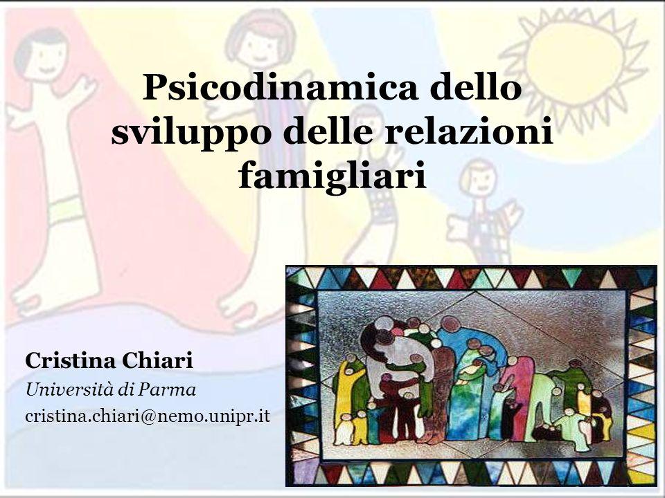 cristina.chiari@nemo.unipr.it Psicodinamica dello sviluppo delle relazioni famigliari Cristina Chiari Università di Parma cristina.chiari@nemo.unipr.i