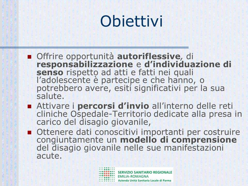 Obiettivi Offrire opportunità autoriflessive, di responsabilizzazione e dindividuazione di senso rispetto ad atti e fatti nei quali ladolescente è par