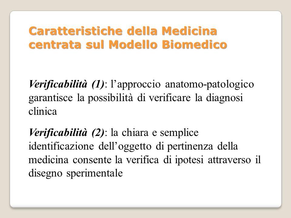 Verificabilità (1): lapproccio anatomo-patologico garantisce la possibilità di verificare la diagnosi clinica Verificabilità (2): la chiara e semplice