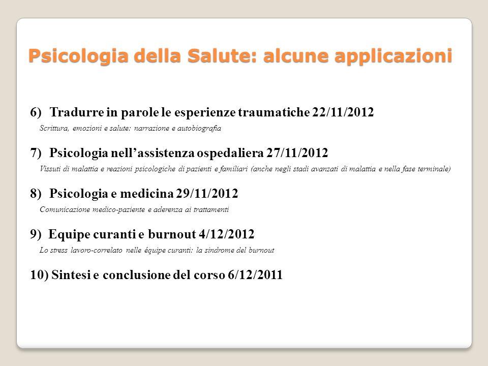 B.Zani, E. Cicognani, (2000) Psicologia della Salute, Il Mulino, Bologna.