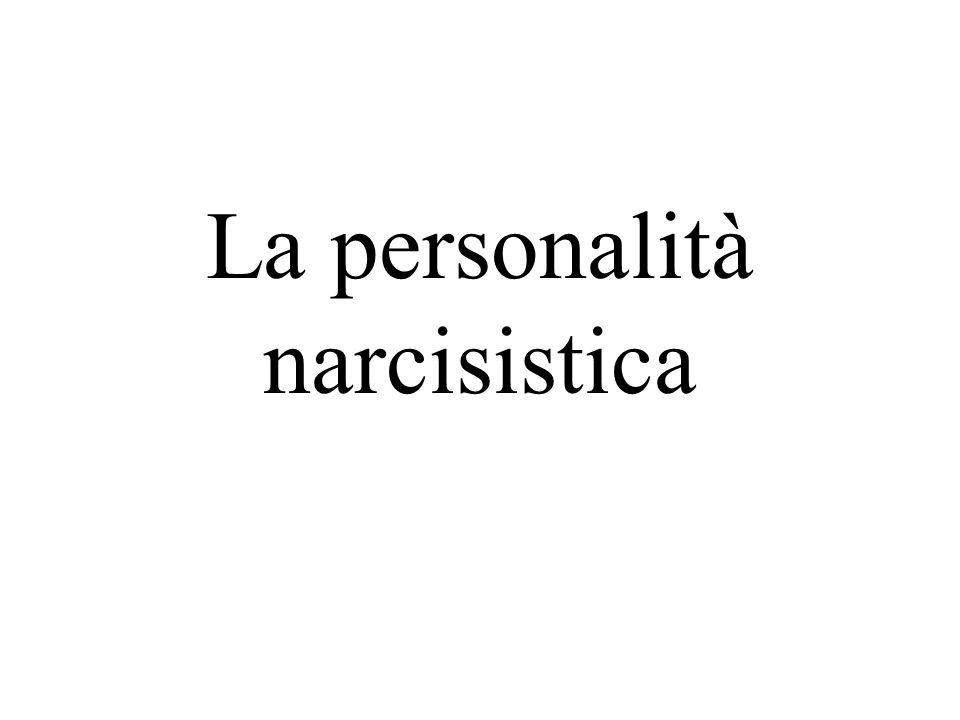 La personalità narcisistica