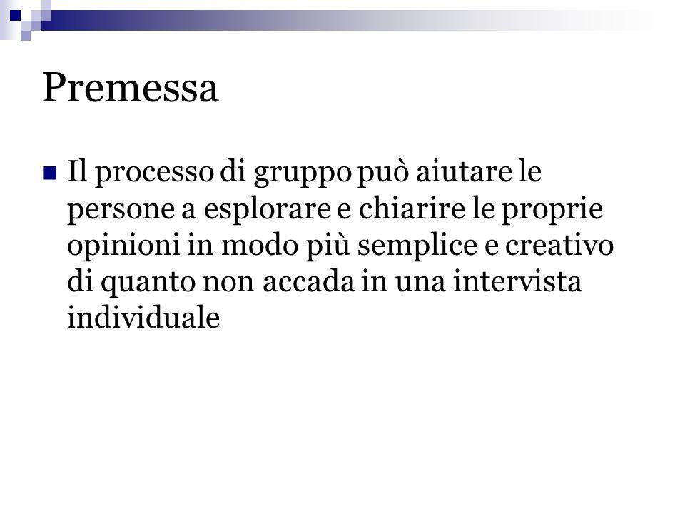 Avvio del focus group 1.Presentazione delliniziativa (A.