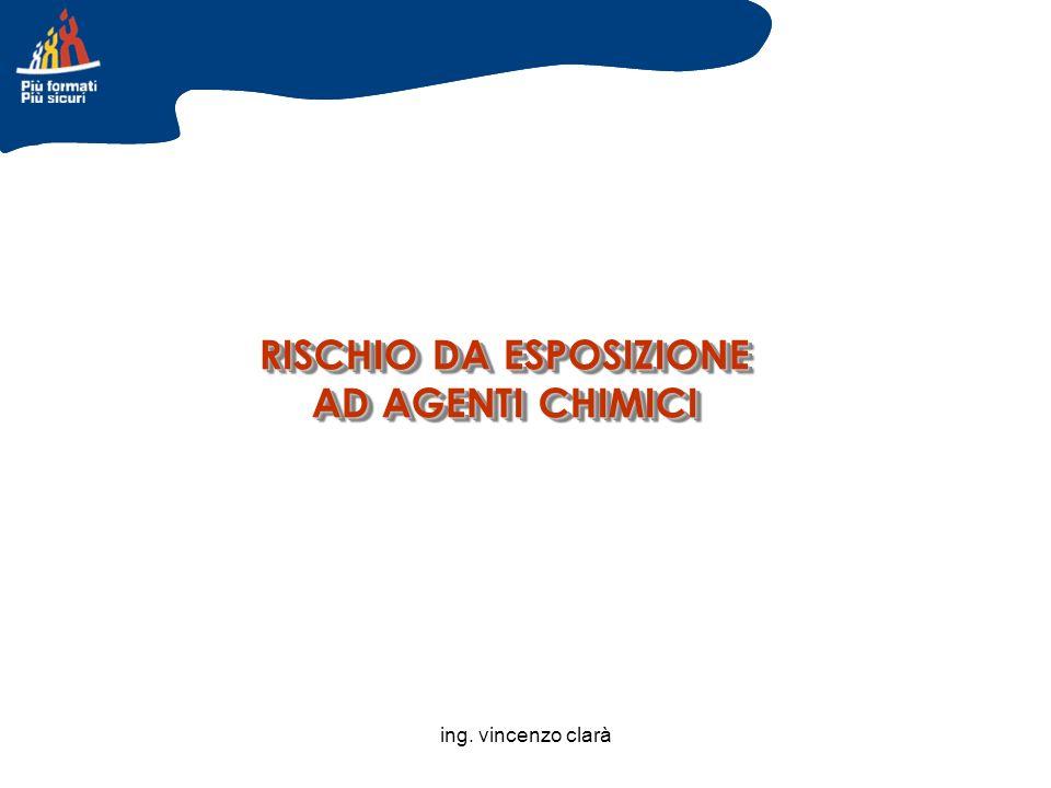 ing. vincenzo clarà RISCHIO DA ESPOSIZIONE AD AGENTI CHIMICI