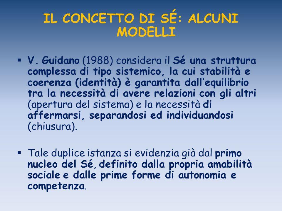 IL CONCETTO DI SÉ: ALCUNI MODELLI V. Guidano (1988) considera il Sé una struttura complessa di tipo sistemico, la cui stabilità e coerenza (identità)