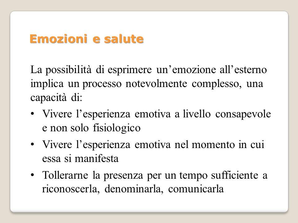 Lespressione emotiva è utile e salutogenetica: Freud (Inibizione, sintomo e angoscia, 1926): angoscia come segnale di pericolo Altri autori (es.