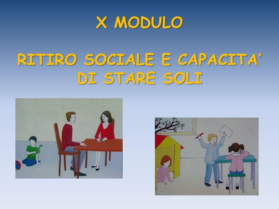 X MODULO RITIRO SOCIALE E CAPACITA DI STARE SOLI
