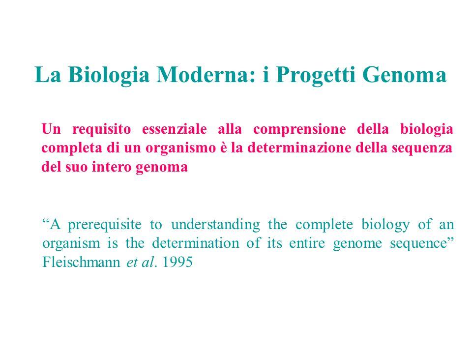 Un requisito essenziale alla comprensione della biologia completa di un organismo è la determinazione della sequenza del suo intero genoma A prerequis
