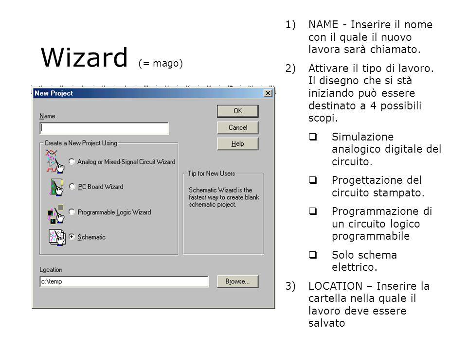 Wizard (= mago) 1)NAME - Inserire il nome con il quale il nuovo lavora sarà chiamato.