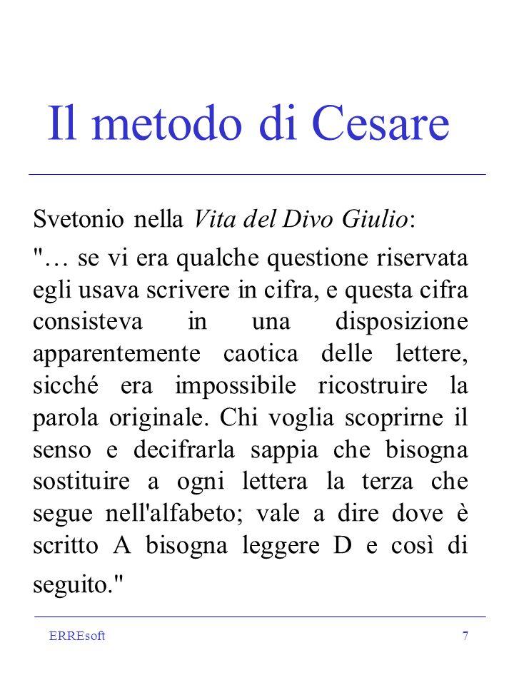 ERREsoft7 Il metodo di Cesare Svetonio nella Vita del Divo Giulio: