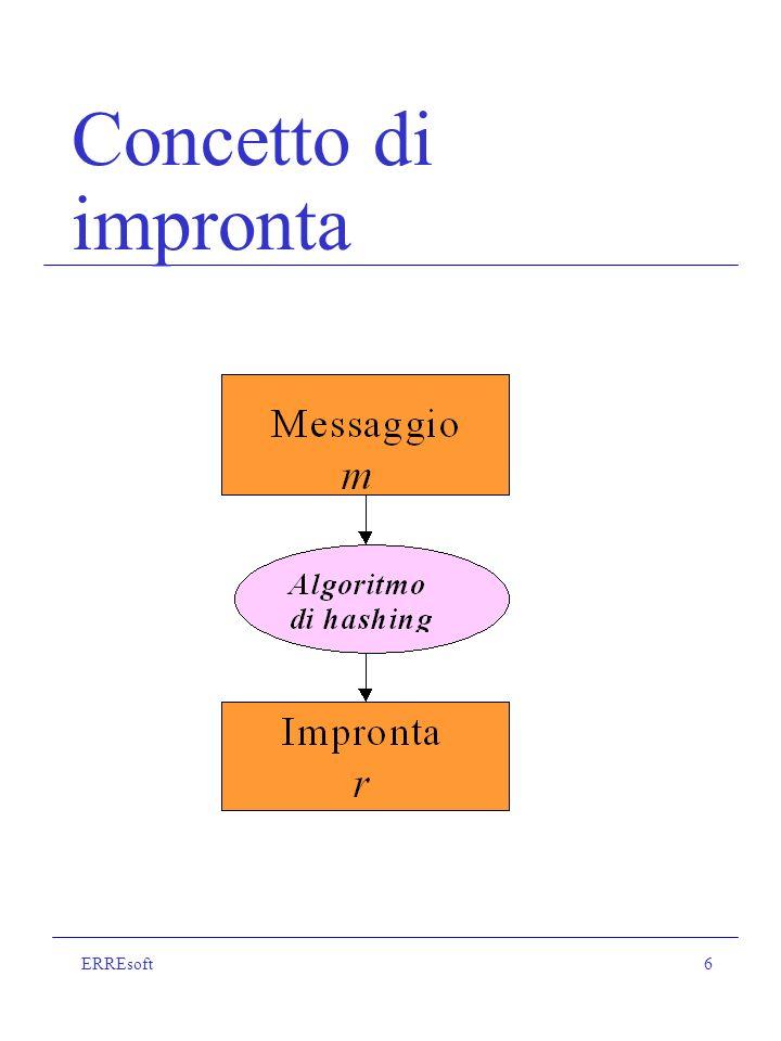 ERREsoft17 Caratteristiche della firma digitale La firma digitale dipende dal testo e dal mittente.