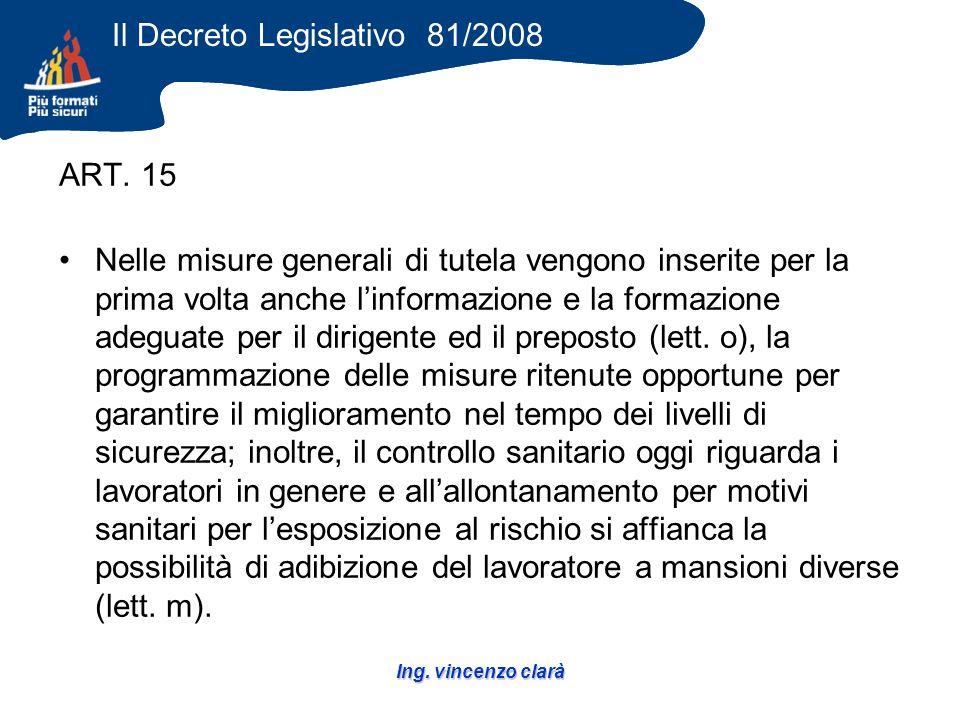 Ing. vincenzo clarà ART.