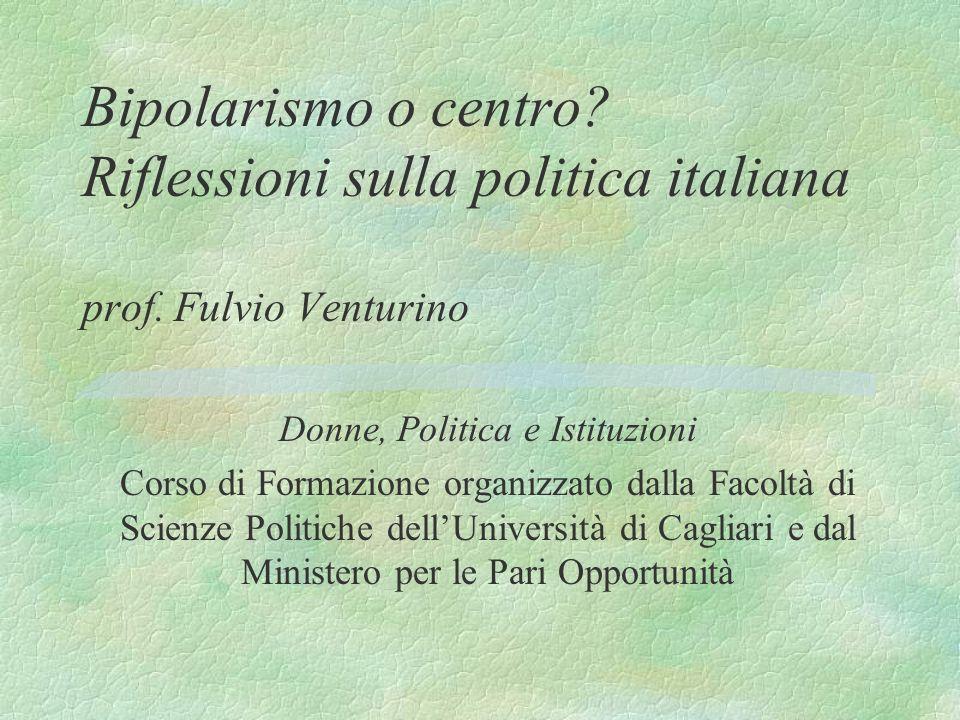 Bipolarismo o centro.Riflessioni sulla politica italiana prof.