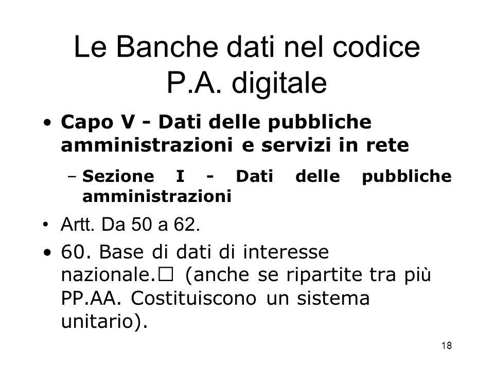 17 Le banche dati di utilità giuridica ed amministrativa Il C.E.D.
