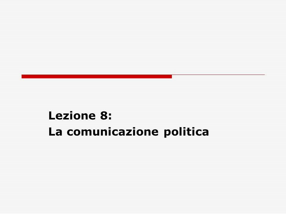 Lezione 8: La comunicazione politica