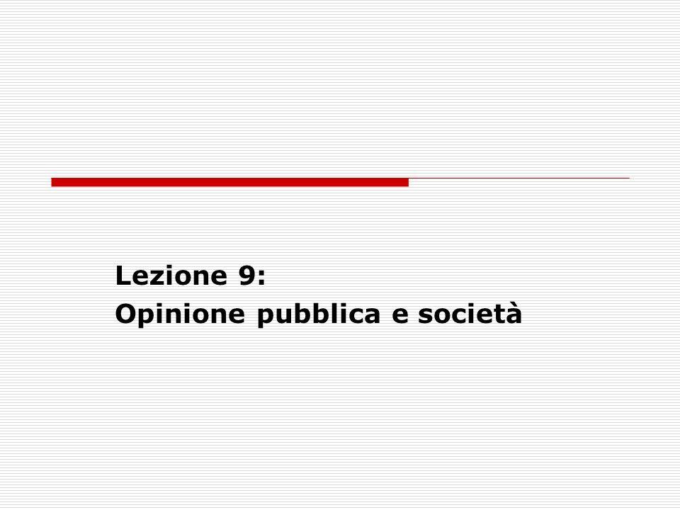 Lezione 9: Opinione pubblica e società