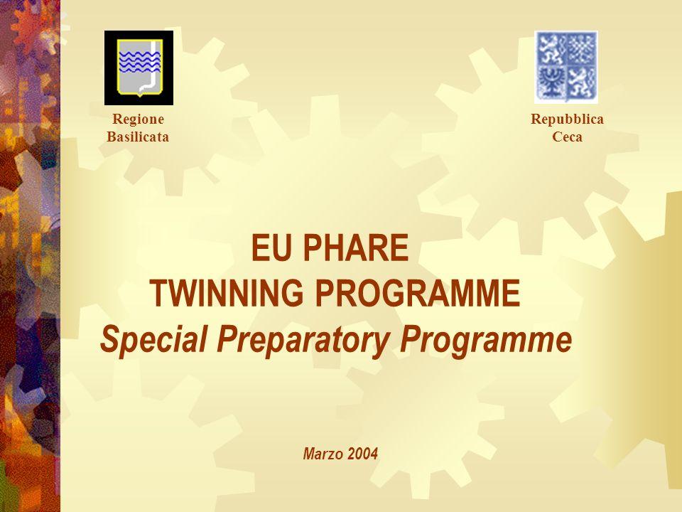 Regione Basilicata Repubblica Ceca EU PHARE TWINNING PROGRAMME Special Preparatory Programme Marzo 2004