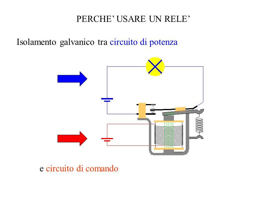 PERCHE USARE UN RELE Isolamento galvanico tra circuito di potenza e circuito di comando