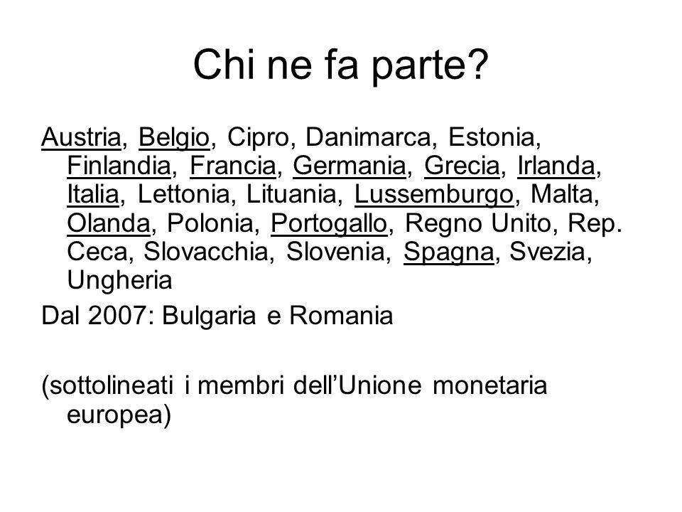 Chi ne fa parte? Austria, Belgio, Cipro, Danimarca, Estonia, Finlandia, Francia, Germania, Grecia, Irlanda, Italia, Lettonia, Lituania, Lussemburgo, M