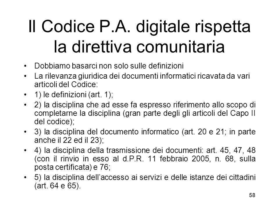 58 Il Codice P.A.