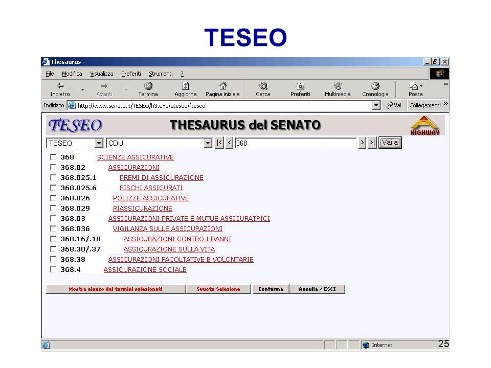 Presentazione del thesaurus CLASSIFICATO ALFABETICO 24