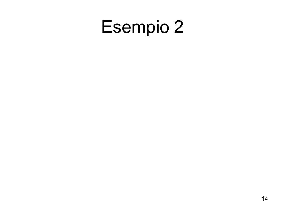 14 Esempio 2