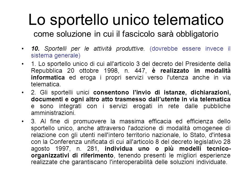 I documenti del fascicolo Provenienza: –Privati –Le varie PP.AA.