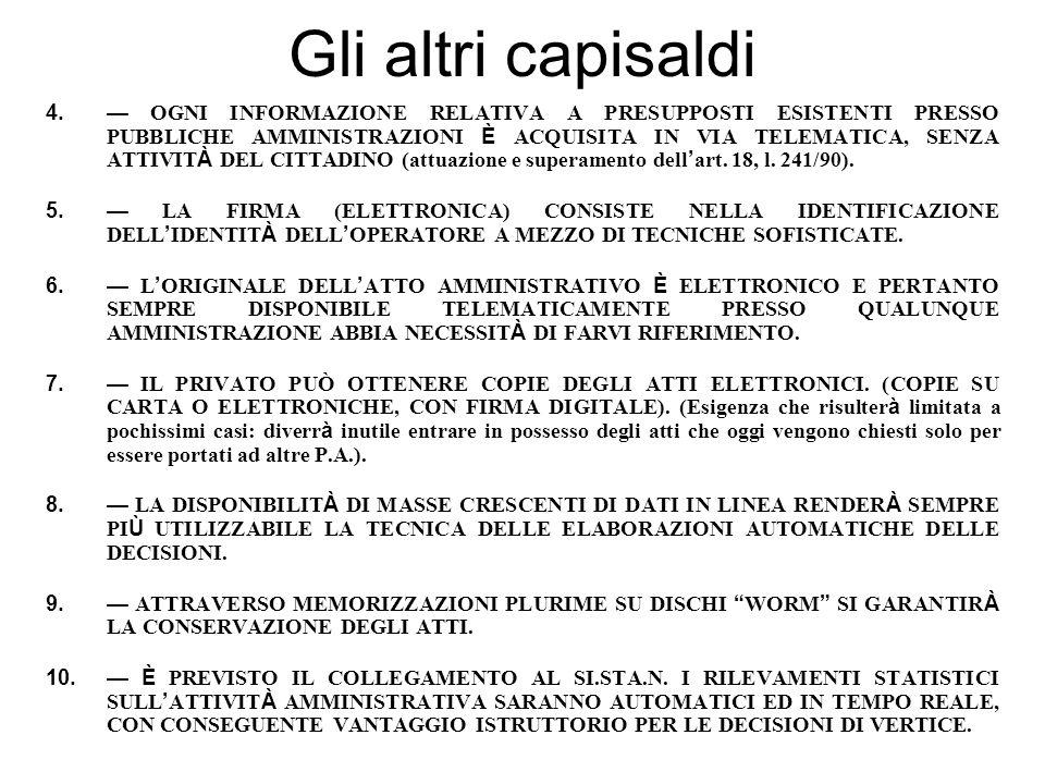 1991-93: lo sportello unico telematico (TELEAMMINISTRAZIONE) Solo ora nel codice p.a.