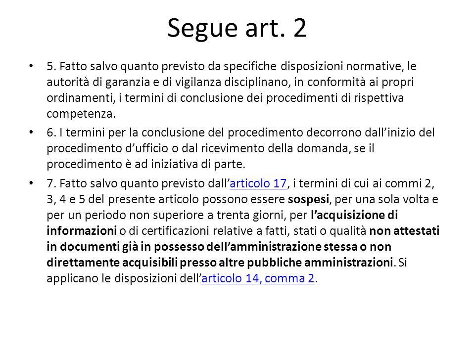 Segue art. 2 5.