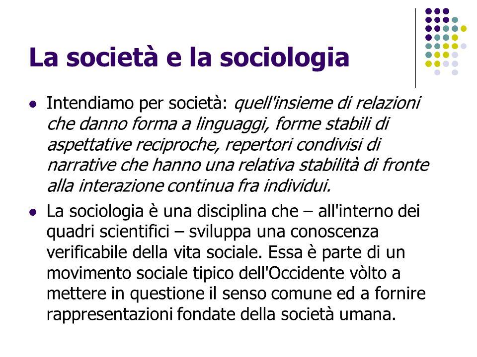 La modernità La sociologia sorge assieme ai grandi rivolgimenti che caratterizzano la nascita della società industriale.